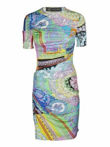 Versace Contrast Print Dress