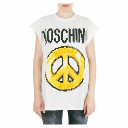 Moschino T-shirt Short Sleeve Crew Neck Round Peace Pixel Capsule