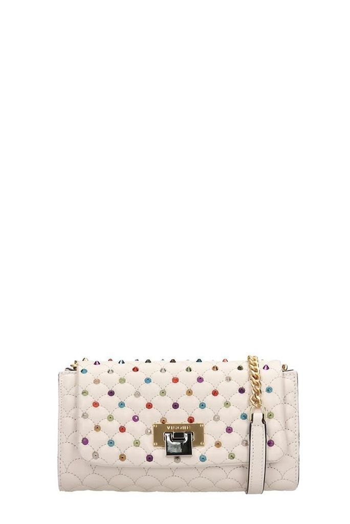 Visone Beige Quilted Leather Patty Bag