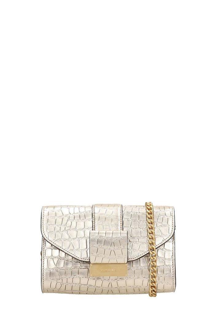 Visone Gold Leather Mila Bag