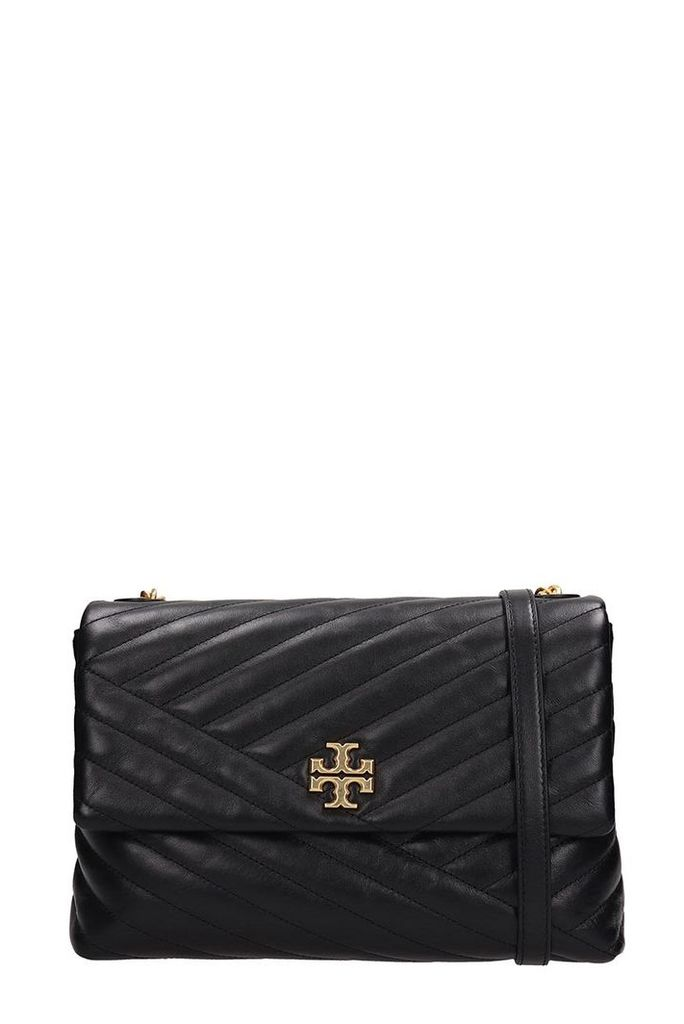 Tory Burch Black Quilted Leather Patty Bag