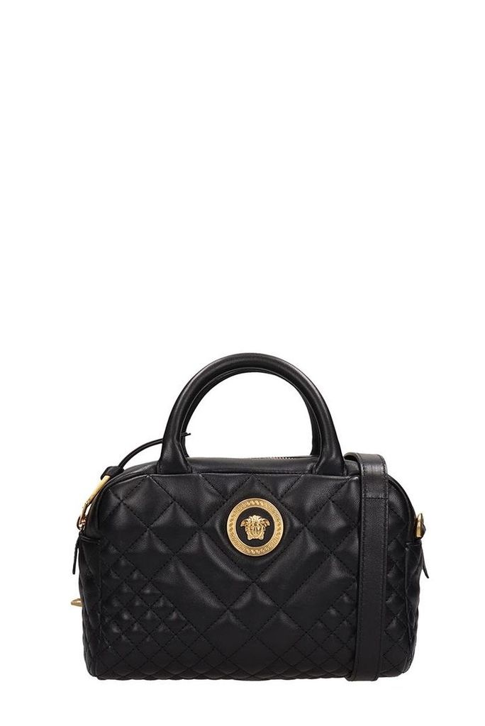 Versace Black Quilted Leather Bag