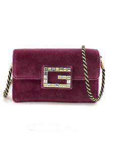 Gucci Pink Velvet Shoulder Bag