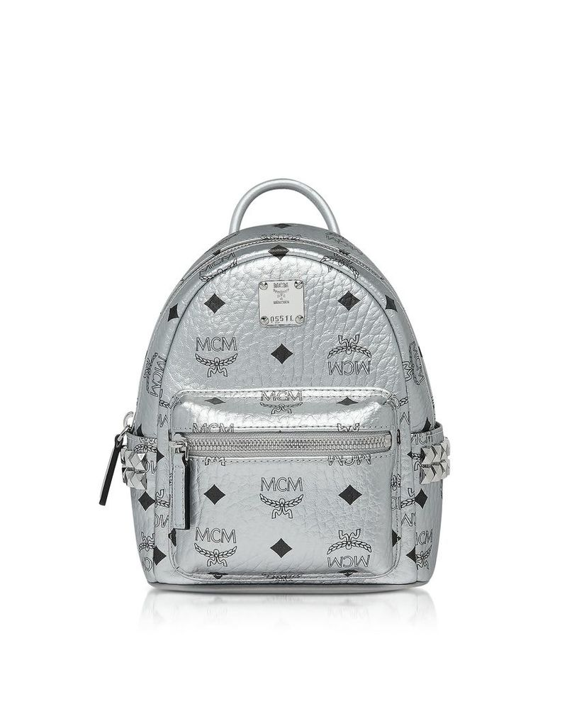 Mcm Berlin Silver Side Studs Visetos Stark Backpack 20