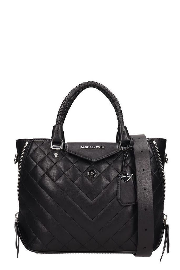 Michael Kors Black Quilted Leather Blakely Bag