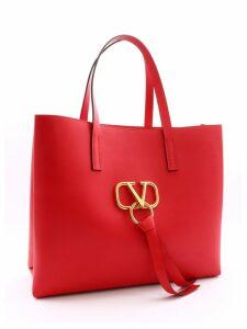 Valentino Garavani Shopping Bag Vring Red