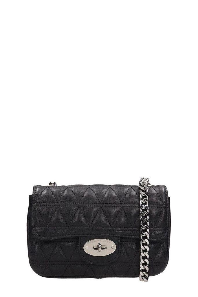Marc Ellis Black Quilted Leather Pilar S Bag