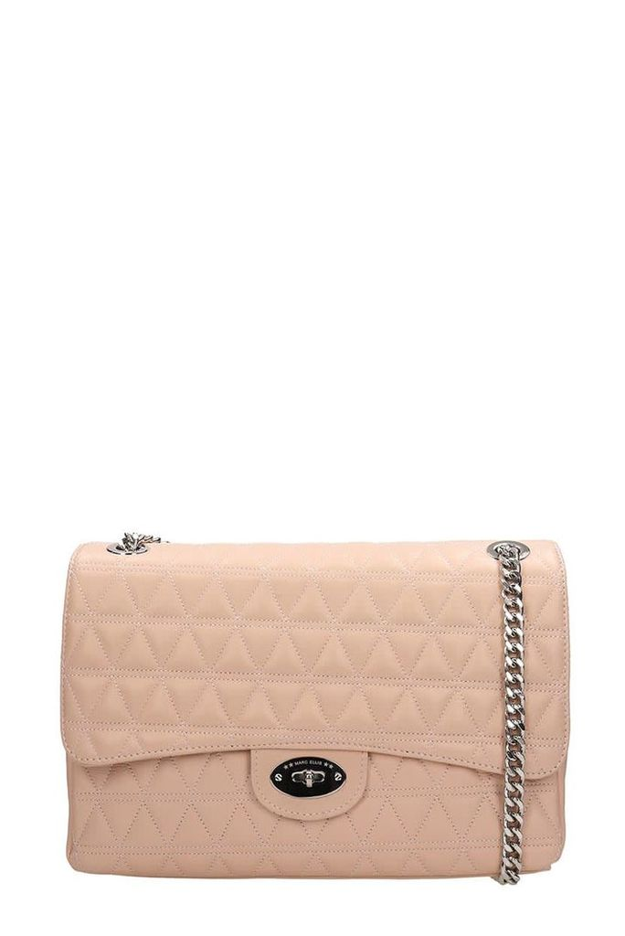Marc Ellis Pink Quilted Leather Pilar L Bag