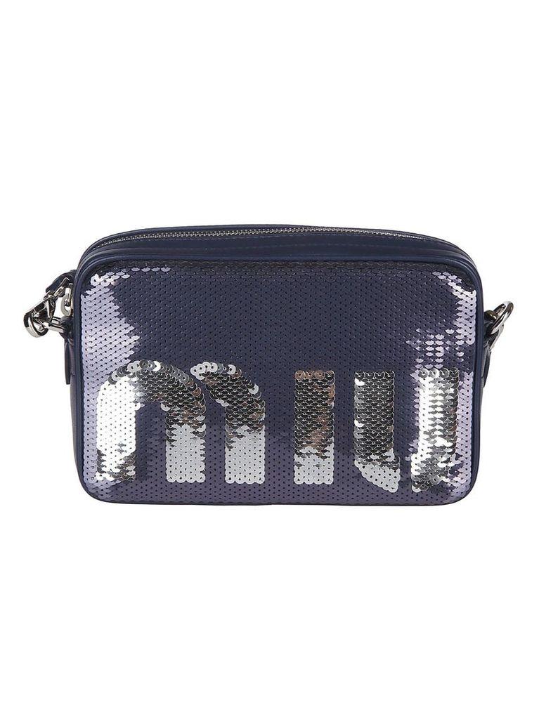 Miu Miu Sequin Logo Shoulder Bag