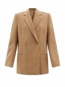 Loretta Caponi - Smocked Floral Print Cotton Maxi Dress - Womens - Green Multi