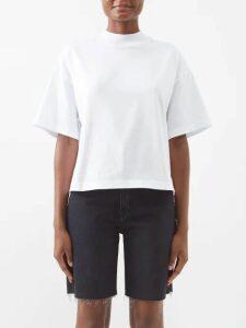 Asceno - Striped Silk Crepe Shirtdress - Womens - Blue Stripe