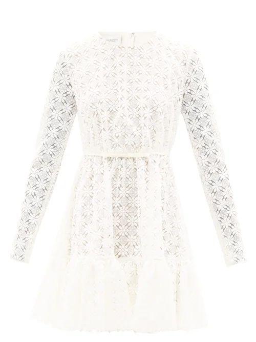 Rhode - Ella Cotton Mini Dress - Womens - Green