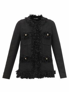 Rhode - Lena Heart Jacquard Cotton Blend Wrap Dress - Womens - Navy