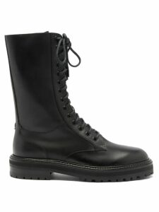 Rhode - Arya Belted Slubbed Cotton Mini Dress - Womens - Burgundy