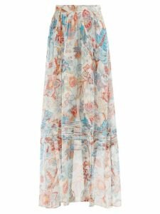 Zimmermann - Amari Paisley Print Tiered Voile Dress - Womens - Multi
