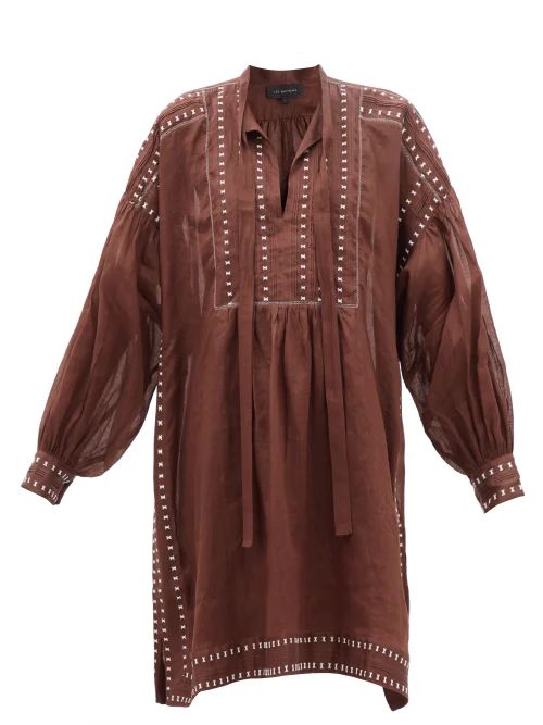 Zimmermann - Silk Satin Wrap Dress - Womens - Pink