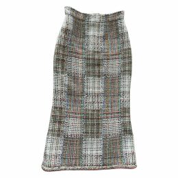 Tweed mid-length skirt