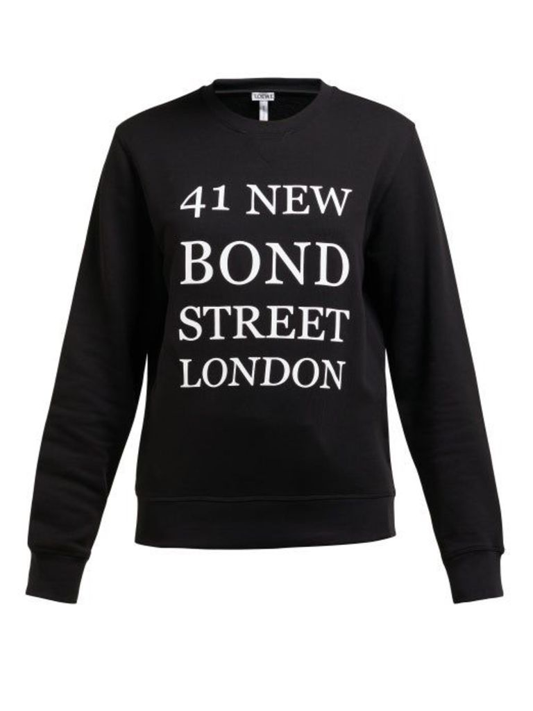 Loewe - 41 New Bond Street Print Cotton Sweatshirt - Womens - Black White
