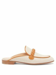 Burberry - Double Breasted Silk Satin Trench Coat - Womens - Beige