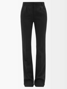 The Vampire's Wife - Visiting Button Front Cotton Corduroy Midi Skirt - Womens - Burgundy