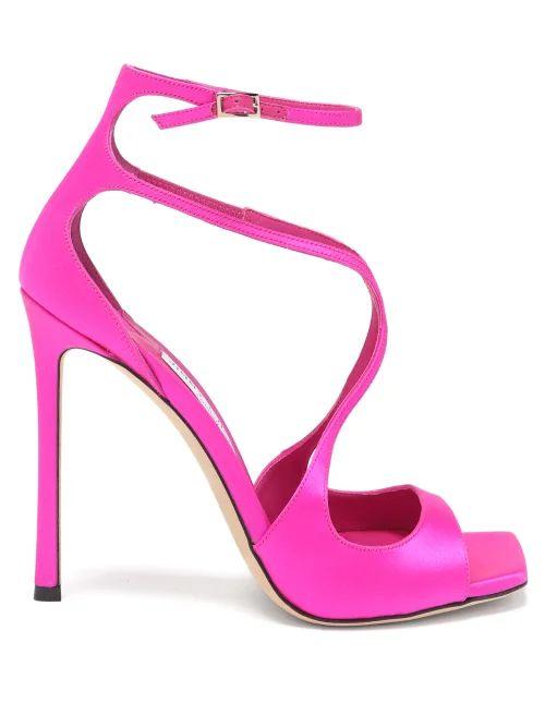 Gucci - Ruffled Strawberry Print Silk Blouse - Womens - Ivory Multi