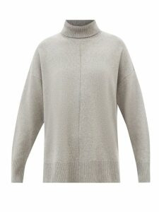 Romance Was Born - Disco Paisley Jacquard Ruched Silk Blend Skirt - Womens - Burgundy Multi