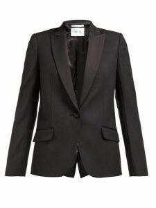 Pallas X Claire Thomson-jonville - Dante Single Breasted Wool Twill Blazer - Womens - Black