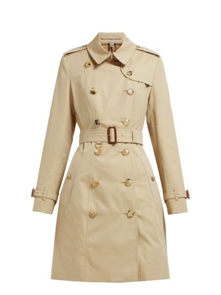 Burberry - Chelsea Heritage Cotton Gabardine Trench Coat - Womens - Beige