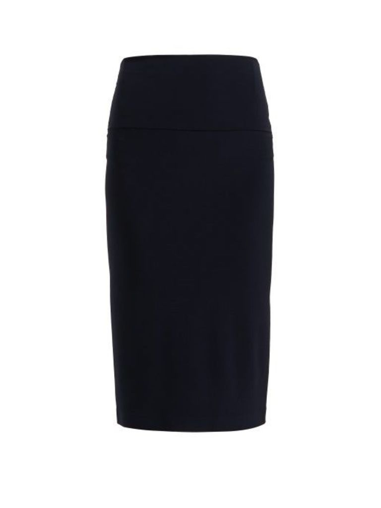 Norma Kamali - Tube Stretch Jersey Skirt - Womens - Navy