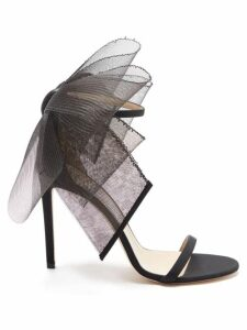 Ganni - Leopard And Moon Print Tiered Poplin Midi Dress - Womens - Blue Multi