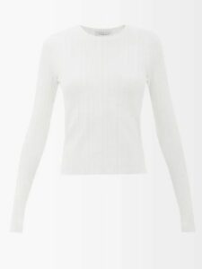 Ganni - Gingham Puff Sleeve Seersucker Mini Shirtdress - Womens - Red White