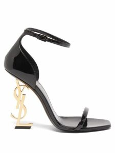Ganni - Gingham Silk Crepe Wrap Dress - Womens - Black White