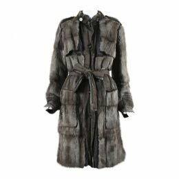 Exotic leathers trench coat