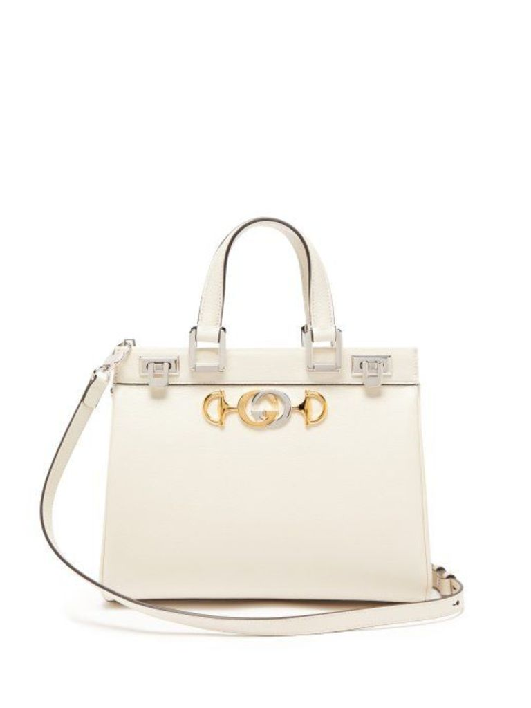 Gucci - Zumi Small Top Handle Leather Handbag - Womens - White