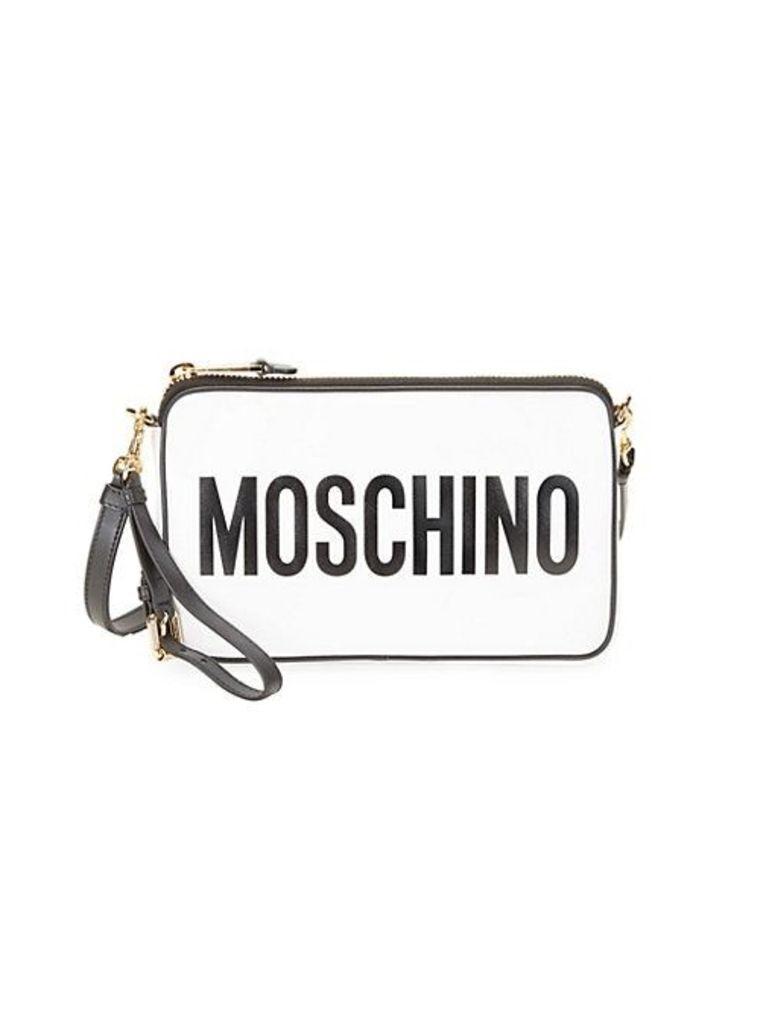 Logo Leather Pouch Crossbody Bag