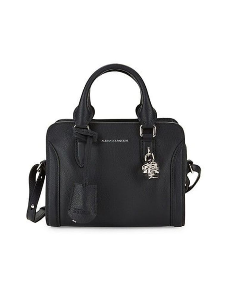 Mini Padlock Leather Satchel