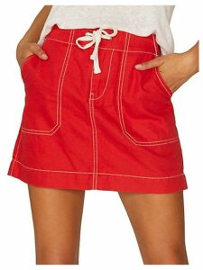 Self-Tie Waist Skirt