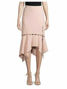Asymmetrical-Hem Cut-Out Skirt