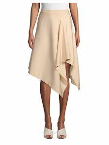 Solid Asymmetrical Skirt