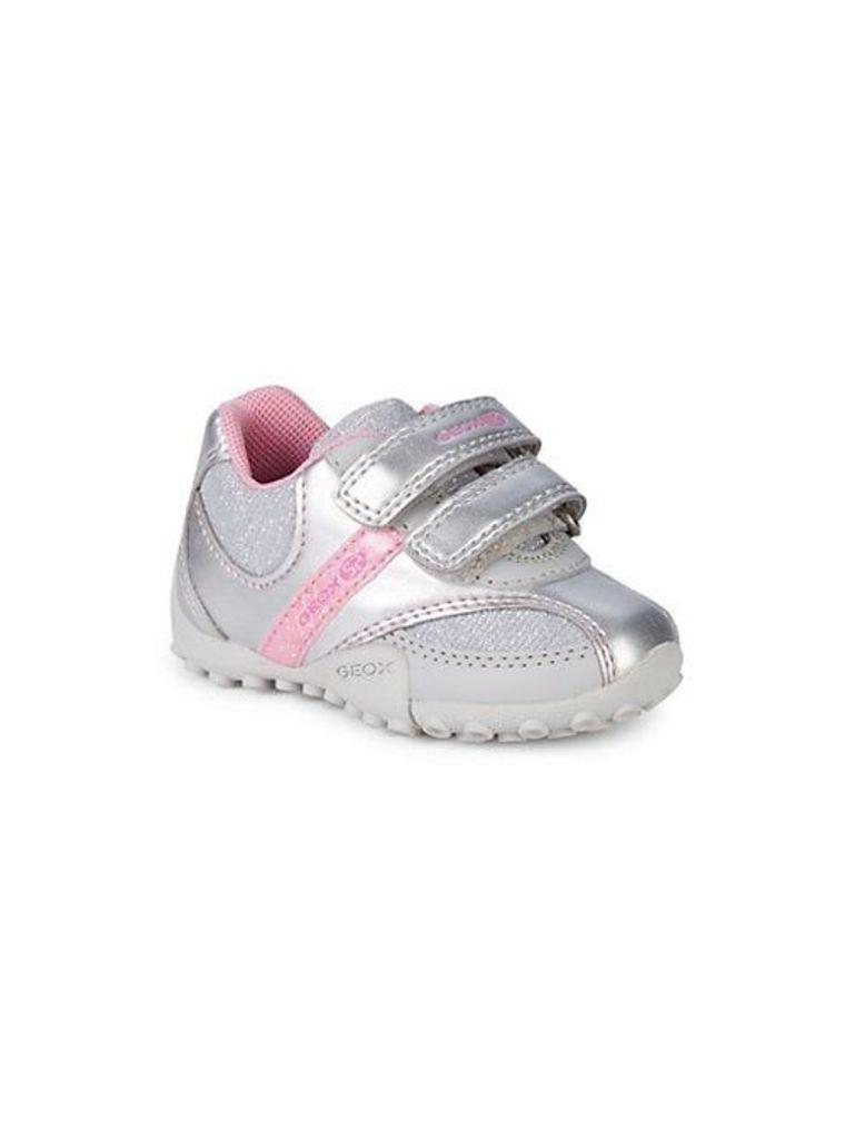 Baby Girl's & Little Girl's Snake Metallic Velcro Runners