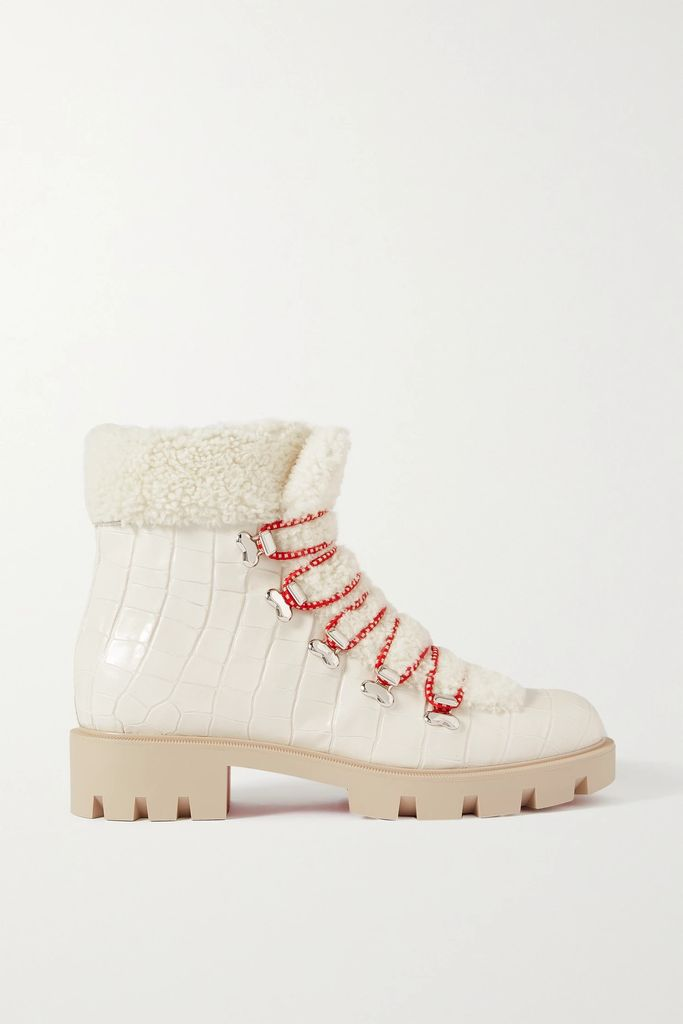 Gucci - Zumi Small Embellished Textured-leather Tote - White