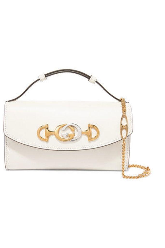 Gucci - Zumi Mini Leather Shoulder Bag - White