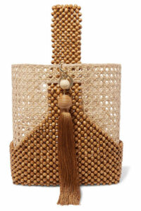 Rosantica - Budd Beaded Wicker Tote - Tan