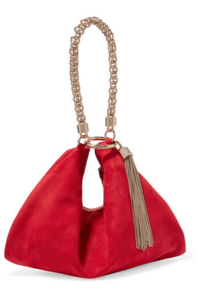 Jimmy Choo - Callie Suede Shoulder Bag - Red