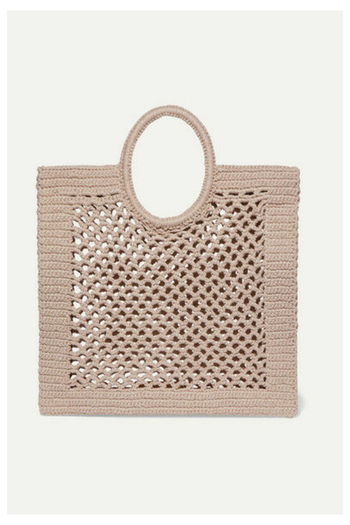 Mizele - Sunbath Crocheted Cotton-blend Tote - Neutral