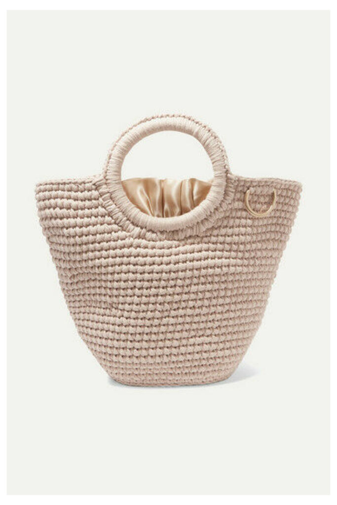 Mizele - Sun Mini Crocheted Cotton Tote - Neutral
