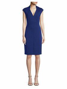 Geraldine Plush Knit Sheath Dress