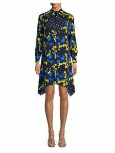 Printed Silk Shift Dress