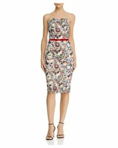 Bronx And Banco Maria Blanc Floral-Embroidered Pencil Dress
