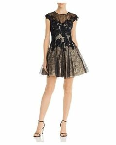 Basix Sequined Lace Party Dress